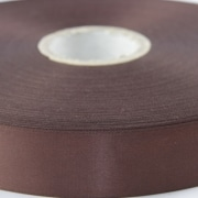 Brown 100mm wide Satin Ribbon, 5 metres long available from personalised printed ribbons now for next day delivery