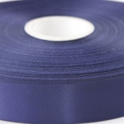 Navy Blue wide satin ribbon