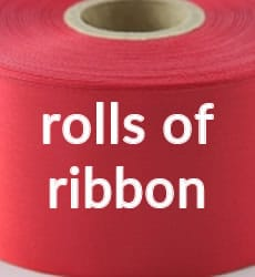Buy Rolls of Plain Ribbons in the UK