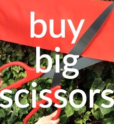 Buy Big Giant Scissors in the UK Fro Ribbon Cutting Ceremonies & Grand Openings