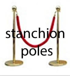 Buy stanchion VIP poles for grand openings