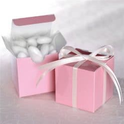 Baby Pink Cube Favour Boxes - 5cm