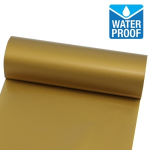 Waterproof gold printing