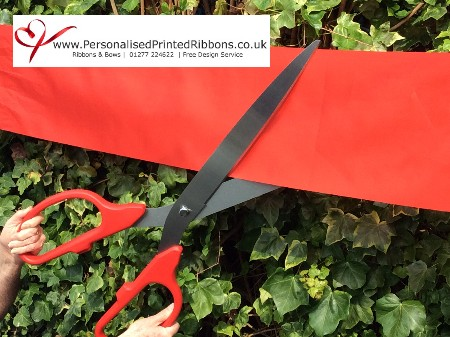 "Extra Large Red & Silver 36"" Long Scissors"