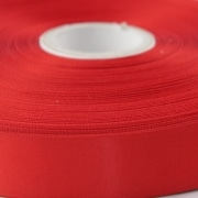100mm wide red satin wibbon 5 metre roll + £10 +VAT