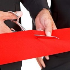 Red Satin ribbon for ribbon cutting ceremonies
