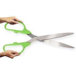 Lime Green and Silver 25inch long ceremonial scissors