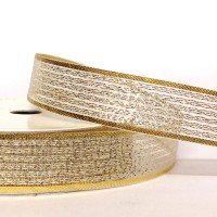 15mm Gold Sparkly Sheer Ribbon