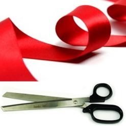 Ribbon Cutting Package 3 metres of ribbon and giant scissors
