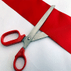 Big Red Handles 26cm Scissor & Wide Ribbon Launch Pack