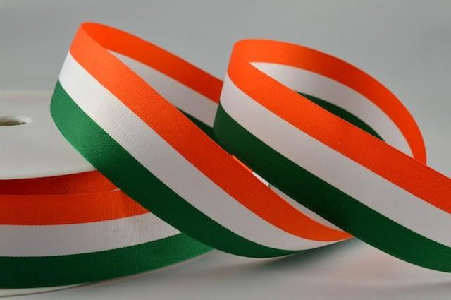 Orange White & Green
