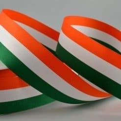 Orange White Green Ribbon