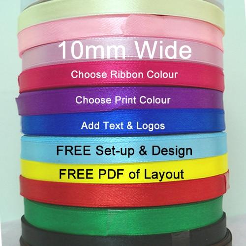 10mm Printed Ribbon
