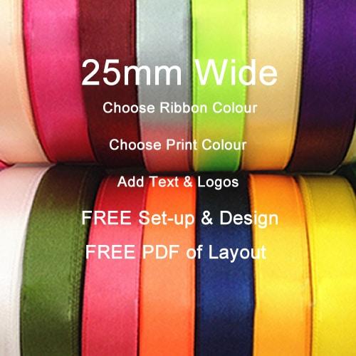25mm Printed Ribbon