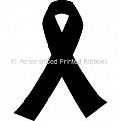 Black Ready to Wear Charity Awareness Ribbons