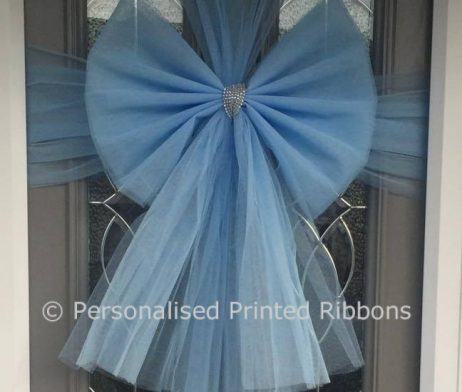 Buy Baby Blue Door Bow Order Now Next Day Delivery