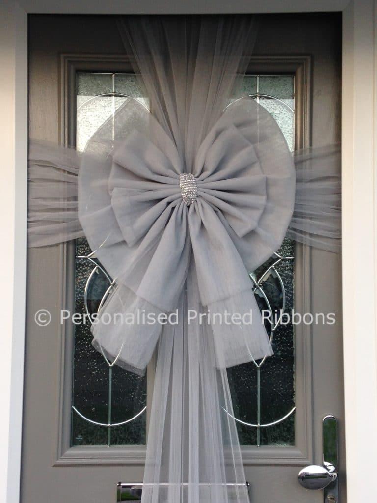 Deluxe Silver Door Bow & Buy Deluxe Silver Door Bow - Order Now - Next Day Delivery