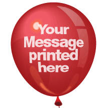 25 Printed Balloons - 2 colour print
