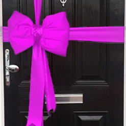 Bright Pink Satin Padded Door Bow Decorating Pack