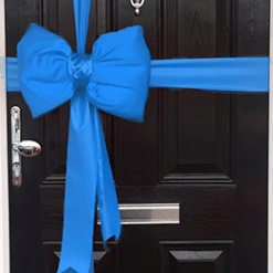 Bright Blue Satin Padded Door Bow Decorating Pack