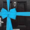 Turquoise Blue Satin Padded Door Bow Decorating Pack