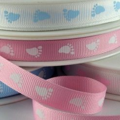 Baby Feet Printed Ribbon