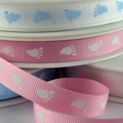 Baby Feet Printed Ribbon