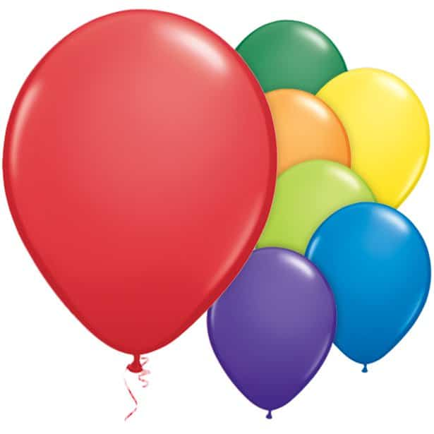 Buy Bulk Assorted Carnival Latex Balloons Next Day Delivery