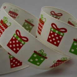 Christmas Present Printed Cotton Ribbon