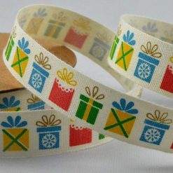 Colourful Presents Printed Cotton Ribbon