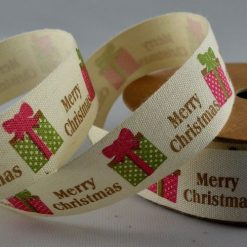 Merry Christmas Cotton Ribbon