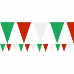 Red, White & Green Plastic Bunting