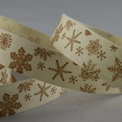 Snowflake Printed Cotton Ribbon