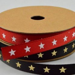 Star Printed Grosgrain Ribbon
