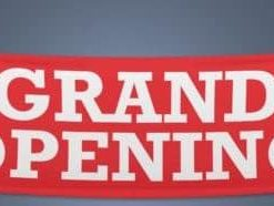 Grand Opening PVC Outdoor Banner