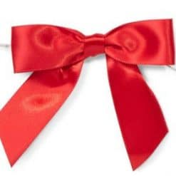 Red Mini Satin Gift Bows with Twist Ties