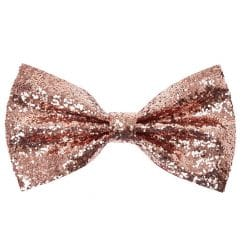 Giant Copper Glitter Bow