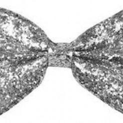 Giant Silver Glitter Bow