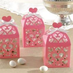 Baby Pink Lantern Favour Boxes