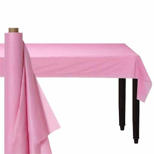 Baby Pink Plastic Banqueting Roll
