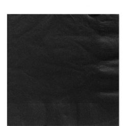 Black Luncheon Paper Napkins