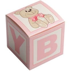 Building Block Baby Favour Boxes