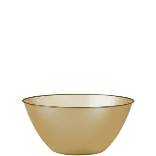 Gold Plastic Serving Bowl