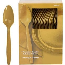 Gold Plastic Spoons