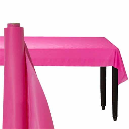 Hot Pink Plastic Banqueting Roll