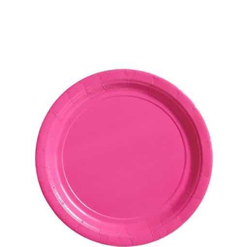 Hot Pink Paper Dessert Plates