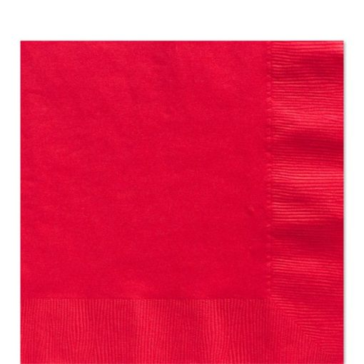 Red Paper Napkins