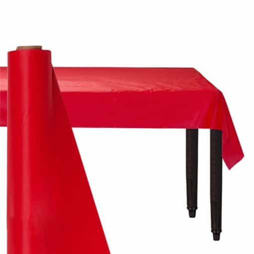 Red Plastic Banqueting Roll