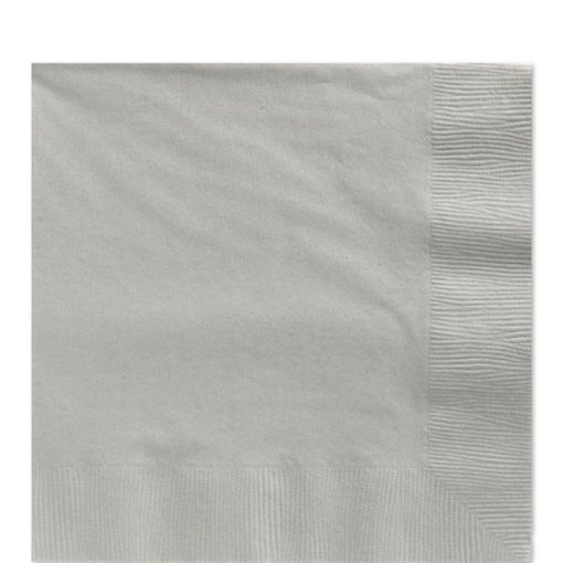 Silver Paper Luncheon Napkins
