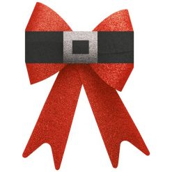 Big Red Glitter Christmas Bow